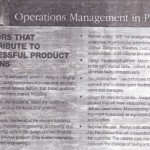 Operations Management in Parctice